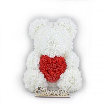 Мишка с сердцем White