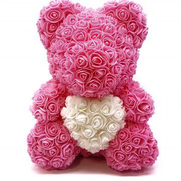 Мишка с сердцем Pink