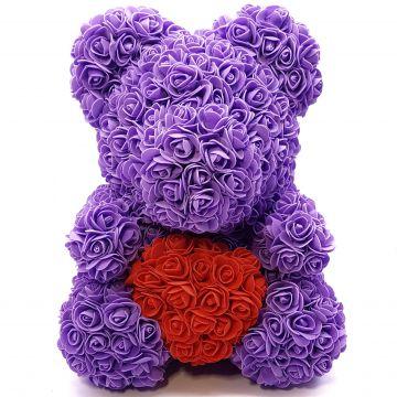 Мишка с сердцем Фиолет