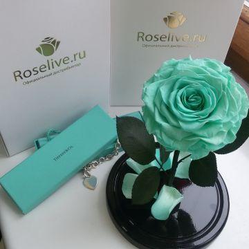 """Роза в колбе King """"Tiffany"""""""""""